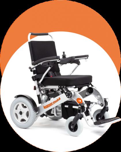 immer-mobil faltbarer Elektro-Rollstuhl